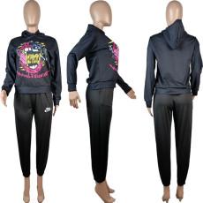 Printed Casual Fashion Hooded Sweatshirt OBF-5033