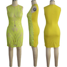 Sexy Shiny Sequined Sleeveless Party Nightclub Dress TE-4145