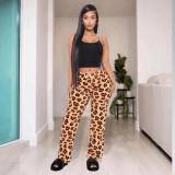 Trend Leopard Print Casual Loose Pants TMF-5003