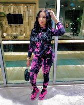 Tie Dye Hoodies And Pants Two Piece Sets XMY-9279