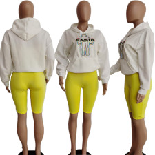 Printed Loose Hood Sweatshirt APLF-0970