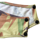 Sexy Camo Print O Neck Long Sleeve Bodysuit SH-390036