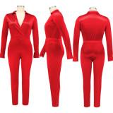 Plus Size 5XL Sexy V Neck Bodysuit+Pants Two Piece Sets BMF-052