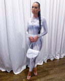 Contrast Color Casual Long Sleeve 2 Piece Suits CL-6092