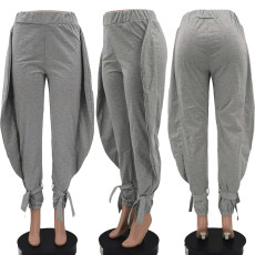 Casual Solid Mid Waist Long Pants KSN-8062