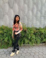 PU Leather Solid Long Pants LA-3244