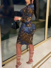 Sexy Fashion Slim Printed Dress YJF-8373