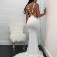 Sexy Backless Floor Length Evening Dress TE-4162