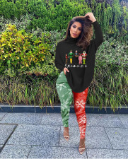 Plus Size Christmas Long Sleeve Split Top And Leggings Pants Two Piece Set SXF-1196