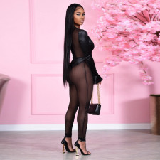 Sexy Mesh See Through Patchwork Jumpsuits SH-390061