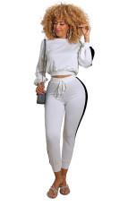 Fashion Splice Long Sleeve Pants Two Piece Set YIBF-6020