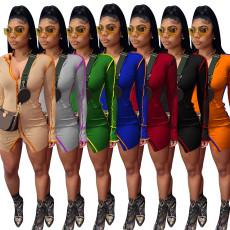 Sexy Long Sleeve Bodycon Mini Dress NIK-198