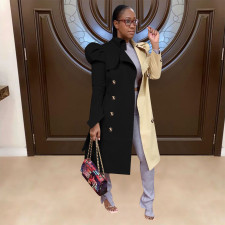 Casual Full Sleeve Long Trench Coat YD-8345