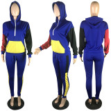 Casual Patchwork Hoodie Two Piece Sets RSN-786
