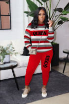QUEEN Letter Striped Long Sleeve 2 Piece Suits BLI-2230