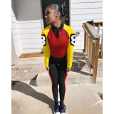 Casual Sports Long Sleeve Two Piece Pants Set IV-8155