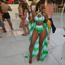 Sexy Swimsuits Long Cloack Bikinis 3 Piece Sets OD-68288