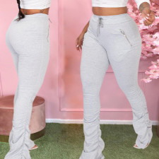 Casual Drawstring Pocket Stacked Sweatpants OD-8416