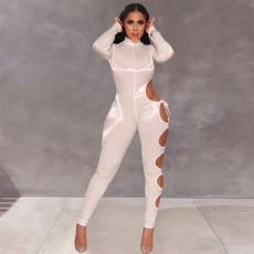 Sexy Hole Long Sleeve One Piece Jumpsuits SZF-6102