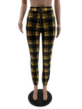 Plaid Print Zipper Casual Pants QSF-5029