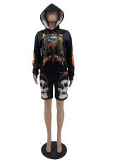 Fashion Casual Printed Long Sleeve Hoodie QSF-5030