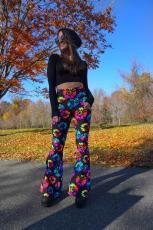 Casual Printed High Waist Flared Pants LSL-8027