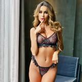 Sexy Mesh Love Heart Print Erotic Lingerie MDNF-13868