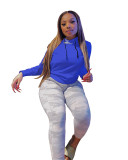 Spring Solid Color Hooded Long Sleeve Casual Sweatshirts FOSF-8041
