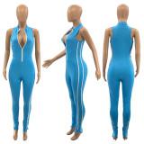 Sexy Sleeveless Zipper Tight Jumpsuits SZF-9014