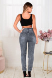 Plus Size Denim Ripped Hole Jeans Pants LX-5119