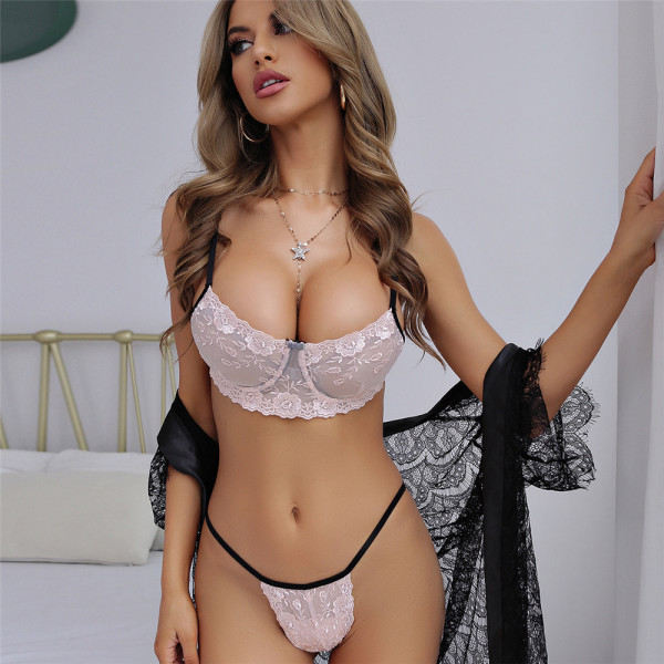 Sexy Lace With Steel-ring Lingerie Sets MDNF-13649