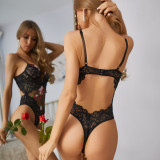 Sexy Lace Embroidery Steel-ringed Bodysuit Lingerie MDNF-12924