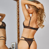 Sexy Lace Steel-ringed Bra G-String Lingerie Sets MDNF-12289