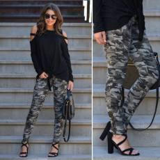 Casual Camo Print Long Pencil Pants LSD-8252