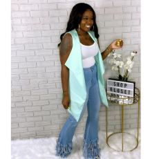 Plus Size Denim Tassel Jeans LSD-8679