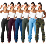 Casual Denim Stacked Jeans Pants LSD-8609
