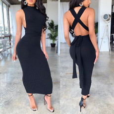 Sexy Sleeveless Backless Long Dress SHE-7128