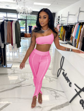 Sexy Crop Top And Pants Two Piece Suits NIK-216
