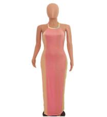 Sexy Halter Backless Maxi Dress AWYF-8817