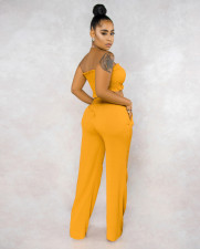 Sexy Tube Top Wide Leg Pants Two Piece Sets APLF-5006