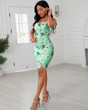 Fashion Sexy Sling Print Dress XSF-6032