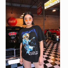Casual Printed Short Sleeve O Neck T Shirt BN-9265