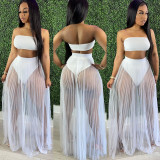 Sexy Tube Top+underpants+Mesh Skirt 3 Piece Sets CH-8162