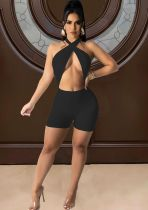 Solid Color Sexy Fashion Rompers FOSF-8056
