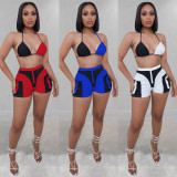 Sexy Bra Top And Shorts Two Piece Suits SZF-8003