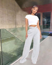 Casual Solid Wide Leg Pants LDS-3261