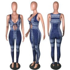 Sexy Tie Up Print Jumpsuit MYP-8961