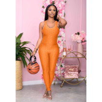 Solid Sleeveless Backless Slim Jumpsuits ARM-8251