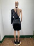 Sexy Irregular Club Dress With Bra Top DAI-8336