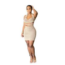 Nightclub Bag Hip Sexy Mini Dress NLF-8047